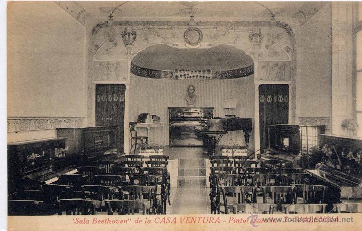 VALENCIA.- SALA BEETHOVEN DE LA CASA VENTURA (Postales - España - Comunidad Valenciana Antigua (hasta 1939))