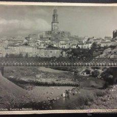 Postales: JÉRICA. PUENTE DE BENAVAL. LAVANDERAS EN EL RIO. 17 X 23 CM. SOBRE CARTÓN.. Lote 48381236