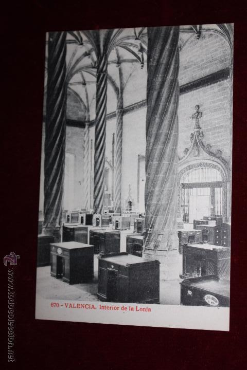 ANTIGUA POSTAL DE VALENCIA. INTERIOR DE LA LONJA. ED. ALMIRALL. FOTPIA. THOMAS. SIN CIRCULAR (Postales - España - Comunidad Valenciana Antigua (hasta 1939))
