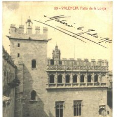 Postales: VALENCIA. PATIO DE LA LONJA - 1910. Lote 48710400