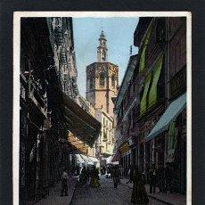 Postales: TARJETA POSTAL ANTIGUA DE VALENCIA. CALLE DE ZARAGOZA Y MIGUELETE. 47302. CIRCULADA 1915. Lote 48745806