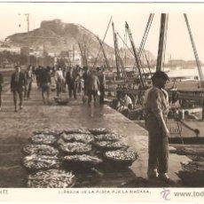 Postales: ALICANTE LLEGADA DE LA PESCA POR LA MAÑANA 1931. FOTO ROISIN. Lote 36130833