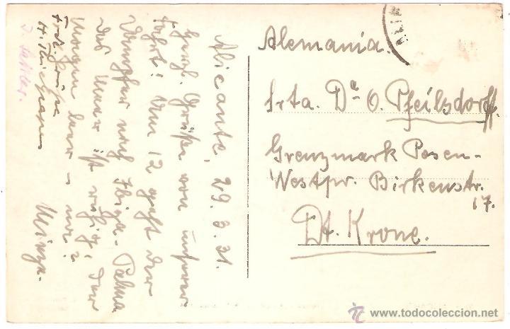 Postales: ALICANTE LLEGADA DE LA PESCA POR LA MAÑANA 1931. FOTO ROISIN - Foto 2 - 36130833