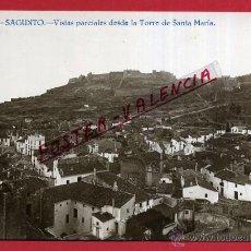 Postales: POSTAL VALENCIA, SAGUNTO VISTAS PARCIALES DESDE TORRE MARIA , FOTOGRAFICA , ORIGINAL , P81611. Lote 49575279