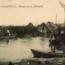 Postales: VALENCIA Nº 18 DETALLE DE LA ALBUFERA FOTOTIPIA CASTAÑEIRA SIN CIRCULAR . Lote 49634746