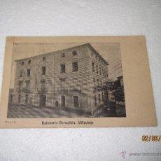 Postales: POSTAL REVERSO SIN DIVIDIR DE VILLAVIEJA CASTELLON - BALNEARIO CERVELLÓN - AÑO 1900-10S.. Lote 49635035