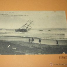 Postales: POSTAL TORREVIEJA ALICANTE NAUFRAGIO DEL BERGANTIN GOLETA FE IMPRENTA DE ACACIO REBAGLIETO AÑO 1909. Lote 49635307
