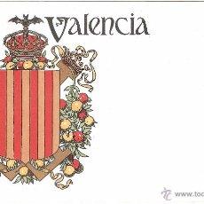 Postales: VALENCIA POSTAL ESCUDO EDITADA EN 1900. HERMENEGILDO MIRALLES. REVERSO SIN DIVIDIR. Lote 33037881