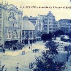 Postales: POSTAL ANTIGUA ALICANTE 1ª SERIE MARIMON. NO CIRCULADA. NUEVA. NUM 8. AVDA ALFONSO X EL SABIO. Lote 49949532