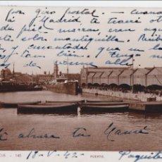 Postales: P- 1562. POSTAL FOTOGRAFICA DE VALNCIA. PUERTO. AÑOS 40.. Lote 49978137