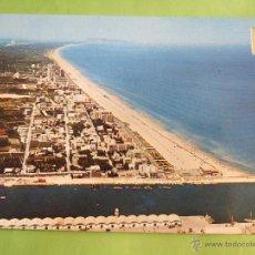 Postales: POSTAL VALENCIA - GANDIA - PUERTO Y PLAYA - VISTA AEREA - 1972 - SIN CIRCULAR - SUBIRATS CASANOVA 91. Lote 50200150