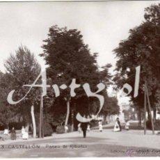 Postales: MAGNIFICA POSTAL FOTOGRAFICA - CASTELLON - PASEO DE RIBALTA - AMBIENTADA . Lote 50310232