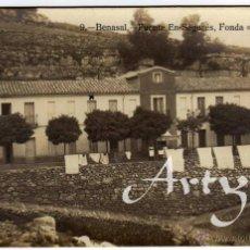 Postales: BONITA Y RARA POSTAL FOTOGRAFICA - BENASAL (CASTELLON) - FUENTE EN SEGURES - FONDA LA CATALANA . Lote 50311030