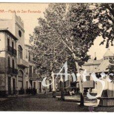 Postales: BONITA Y RARA POSTAL - BURRIANA (CASTELLON) - PLAZA DE SAN FERNANDO - AMBIENTADA . Lote 50311631