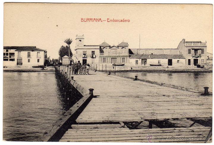 BONITA POSTAL - BURRIANA (CASTELLON) - EMBARCADERO - AMBIENTADA (Postales - España - Comunidad Valenciana Antigua (hasta 1939))