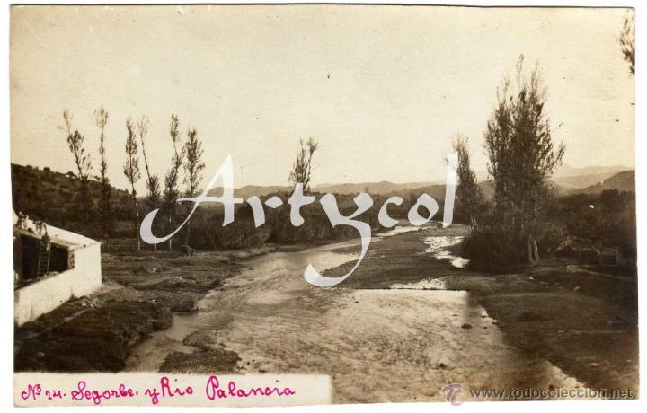 MAGNIFICA POSTAL FOTOGRAFICA - SEGORBE Y RIO PALANCIA - (CASTELLON) (Postales - España - Comunidad Valenciana Antigua (hasta 1939))