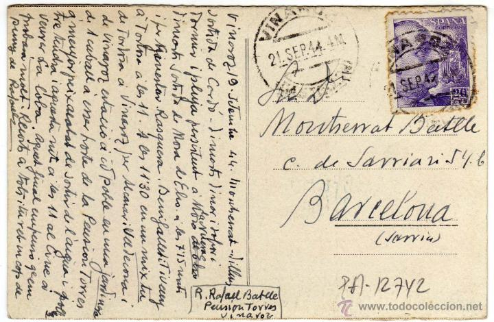 Postales: MAGNIFICA POSTAL - VINAROZ (CASTELLON) - PLAZA JOVELLAR - MUY AMBIENTADA - CAMIONES - Foto 2 - 50312907