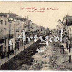 Postales: BONITA Y RARA POSTAL - VINAROZ (CASTELLON) - CALLE S. FRANCES - AMBIENTADA . Lote 50313027