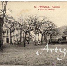 Postales: BONITA Y RARA POSTAL - VINAROZ (CASTELLON) - ALAMEDA - AMBIENTADA. Lote 50313042