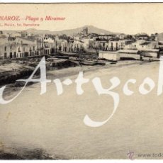 Postales: BONITA POSTAL - VINAROZ (CASTELLON) - PLAYA Y MIRAMAR. Lote 50313187
