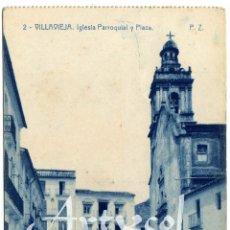 Postales: PRECIOSA POSTAL - VILLAVIEJA (CASTELLON) - IGLESIA PARROQUIAL Y PLAZA - AMBIENTADA . Lote 50313207