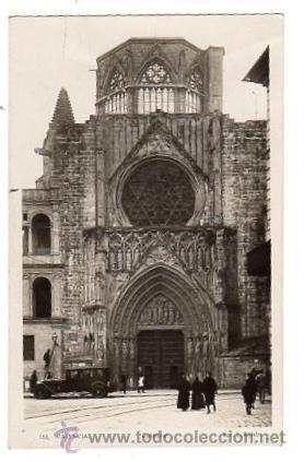 TARJETA POSTAL VALENCIA. CATEDRAL Nº 153. L. ROISIN. AÑO 1943 (Postales - España - Comunidad Valenciana Moderna (desde 1940))
