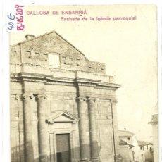 Postales: (PS-46209)POSTAL FOTOGRAFICA DE CALLOSA DE ENSARRIA-FACHADA DE LA IGLESIA PARROQUIAL. Lote 50479928