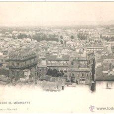 Postales: VALENCIA VISTA DESDE EL MIGUELETE. Lote 43825411