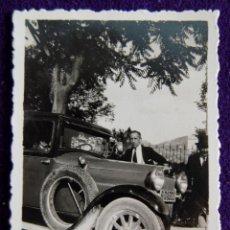 Postales: FOTOGRAFIA DE ALCOY (ALICANTE). COCHE. FOTO PALOMERA. AÑOS 40.. Lote 50612117