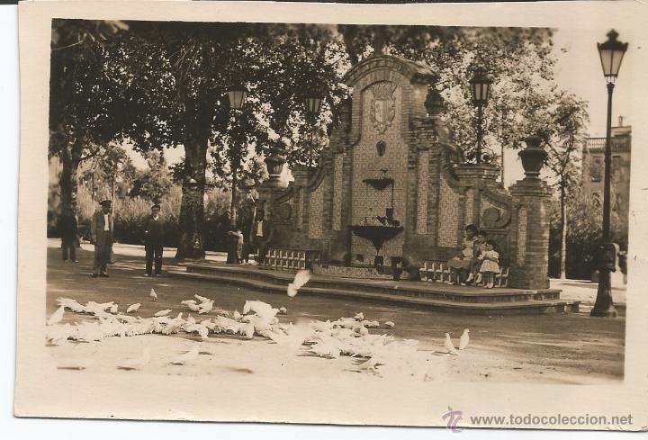 CARCAGENTE - PLAZOLETA Y FUENTE DEL PARQUE - Nº 15 (Postales - España - Comunidad Valenciana Moderna (desde 1940))