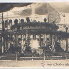Postales: POSTAL FOTO DE MANERO VALENCIA CATEDRAL CASCADA FUENTE PLAZA DE LA VIRGEN EL DIA DE SU FIESTA 1927. Lote 51813806