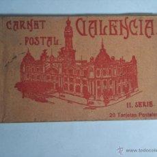 Postales: CARNET POSTAL VALENCIA (LIBRITO CON 17 TARJETAS POSTALES (II SERIE) FALTAN TRES. Lote 51156218