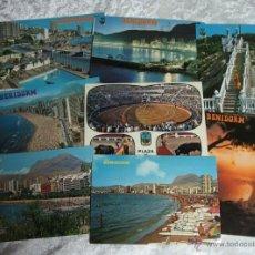 Postales: LOTE 17 POSTALES DE BENIDORM - ALICANTE - AÑOS 71-79. Lote 51157522