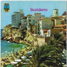 Postales: ALICANTE - BENIDORM - CASTILLO - CIRCULADA. Lote 51710885