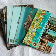 Postales: LOTE 13 POSTALES CASTELLON. VALLE DE UXO. BENICASIN. PEÑISCOLA. AÑOS 60-70.. Lote 51934800