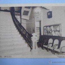 Cartes Postales: POSTAL DE VALENCIA. AÑOS 30 50. HOTEL INGLÉS. MARTÍN VIDAL. FOURNIER. 1909. Lote 51967478