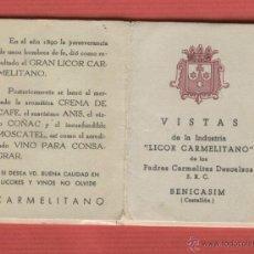 Postales: DESPLEGABLE RECUERDOS POSTALES VISTAS DE LA INDUSTRIA LICOR CARMELITANO BENICASIM CASTELLÓN P1592. Lote 52726105