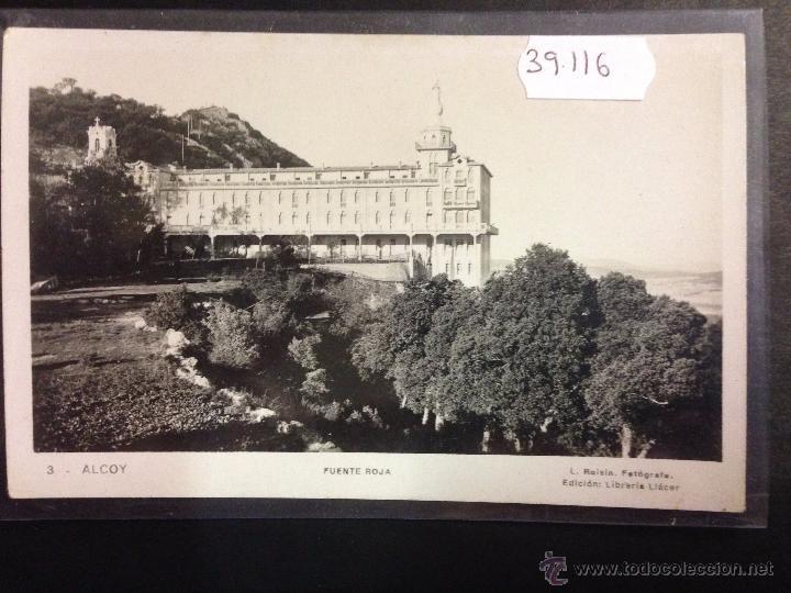 ALCOY - 3 - FUENTE ROJA - FOTOGRAFICA ROISIN - (39116) (Postales - España - Comunidad Valenciana Antigua (hasta 1939))
