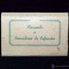 Postales: RECUERDO DE HERVIDEROS DE COFRETES. VALENCIA. BALNEARIO. DESPLEGABLE 10 POSTALES. FOURNIER. AÑOS 40. Lote 53157668