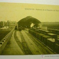 Postales: POSTAL VALENCIA-ANDENES ESTACION DEL NORTE- BB. Lote 53572583