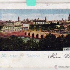 Postales: MIL COSAS DE VALENCIA. CIRCULADA EN EL SIGLO XIX 1899. Lote 194572115
