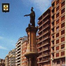 Cartoline: MAGNIFICA POSTAL PLAZA HUERTO SOGUEROS Y MONUMENTO AL REY DON JAIME CASTELLON. Lote 54015493
