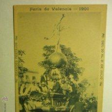 Postales: POSTAL VALENCIA FERIA DE 1901-CABALGATA 1899 - TREGON FOT.---BB. Lote 54061712