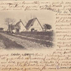 Postales: POSTAL VALENCIA, CABAÑA BARRACA, LIBRERIA JUAN ORTEGA. CIRCULADA 1900 SELLOS PELON. JUAN LEON PLANAS. Lote 54433790