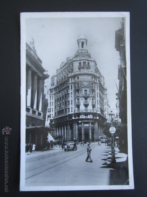 POSTAL VALENCIA. CALLE DE LAS BARCAS, BANCO DE VALENCIA. (Postales - España - Comunidad Valenciana Moderna (desde 1940))