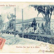 Postales: PS5875 VALENCIA 'CUARTELES DE SAN JUAN DE LA RIBERA'. COLECCIÓN 0. 1906. Lote 51540310