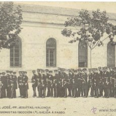 Postales: PS5876 VALENCIA 'COLEGIO S. JOSÉ - MEDIOPENSIONISTAS - SALIDA A PASEO'. 1907. Lote 51540391