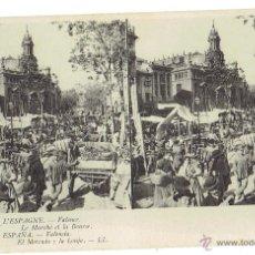 Postales: PS5900 VALENCIA 'EL MERCADO Y LA LONJA'. ESTEROSCÓPICA. LL. SIN CIRCULAR. PRINC. S. XX. Lote 51558021