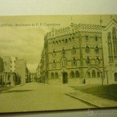 Postales: POSTAL VALENCIA-RESIDENCIA PP CAPUCHINOS -BB. Lote 54811446