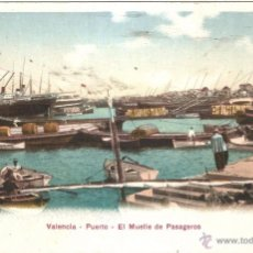 Cartes Postales: VALENCIA EL PUERTO EL MUELLE DE PASAGEROS. Lote 54835987